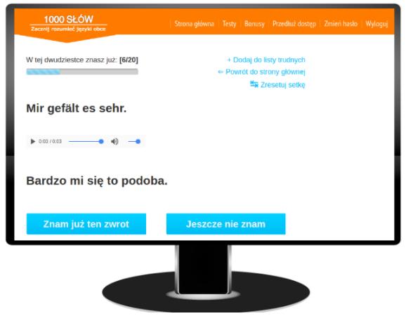 Nauka niemieckich zwrotów przez Internet