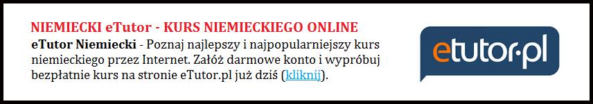 eTutor Niemiecki - Nauka języka niemieckiego Online przez Internet.